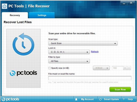 Pc Tools File Recover数据恢复