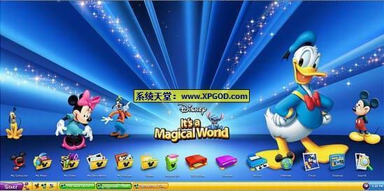 米老鼠和唐老鸭XP主题 Windows XP Theme